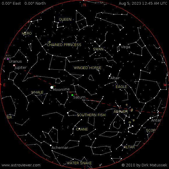 aktueller Sternenhimmel über Bischbrunn