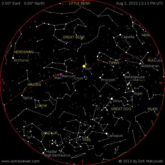 aktueller Sternenhimmel über Neumünster