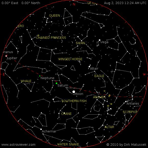current night sky over Syracuse, NY