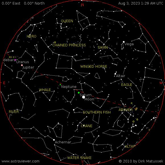Current night sky over Sacav�m