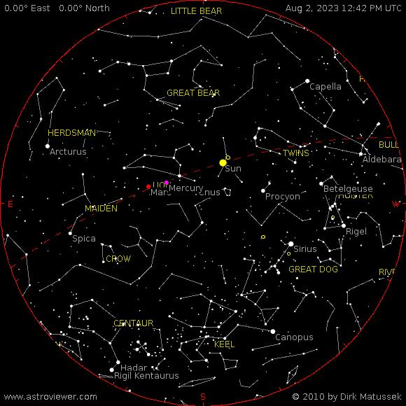 current night sky over Aparri