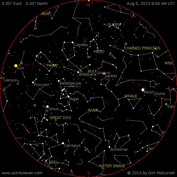 aktueller Sternenhimmel über Niedersedlitz