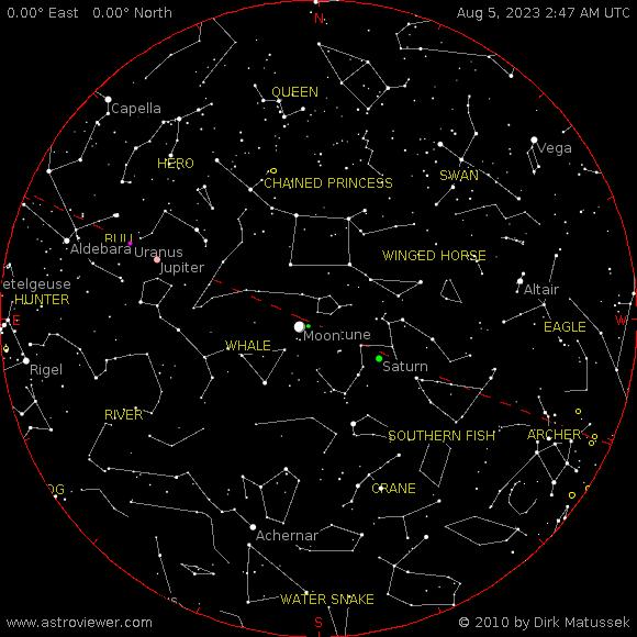 current night sky over Oradea