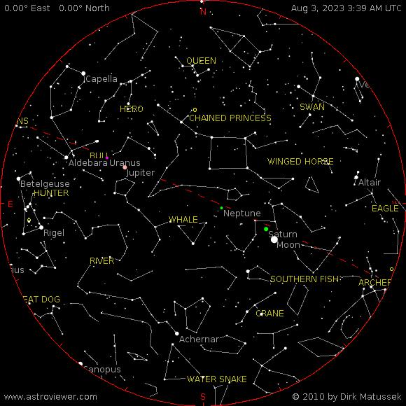 current night sky over Caesar Augusta