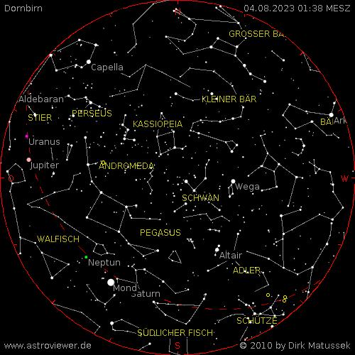 aktueller Sternenhimmel über Dornbirn
