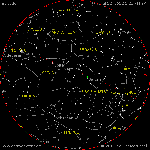 current night sky over Salvador
